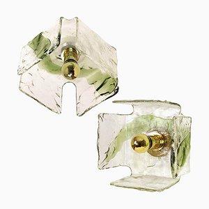 Lampada ad incasso in vetro soffiato a mano verde di JT Kalmar
