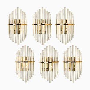 Glasstab Wandlampe von Sciolari für Lightolier