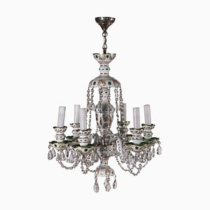 Bohemia Chandelier with Painted Glass, Early 20th Century