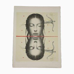 Omar Galliani, Serigraph
