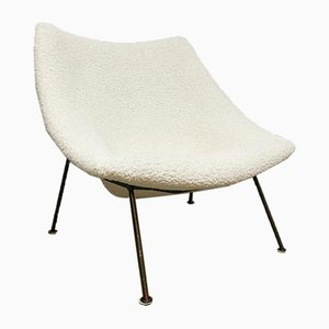 Vintage Dutch Oyster F157 Easy Chair by Pierre Paulin for Artifort