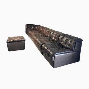 Modulares Vintage Modell DS 11 Braunes Patchwork Sofa von de Sede