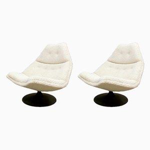 Vintage Dutch Model F511 Swivel Chairs by Geoffrey Harcourt for Artifort, Set of 2