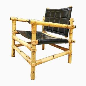 Mid-Century Swedish Bamboo Safari Armchairs & Coffee Table from Ikea