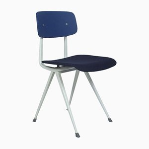 Blue Result Chairs by Friso Kramer & Wim Rietveld for Ahrend, Set of 4
