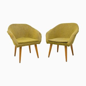 Mid-Century Shell Fiberglass Lounge Chairs, 1960s, Set of 2