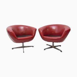 Mid-Century Swivel Chairs from Up Zavody, 1970s, Set of 2