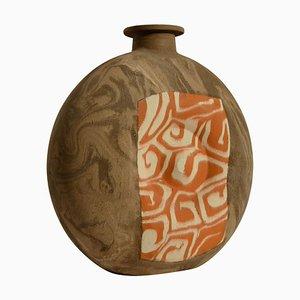 Vaso da studio grande decorativo in ceramica con motivi geometrici
