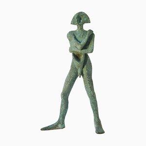 Sculpture Standing Man en Bronze avec Patine Verte