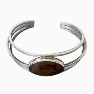 Silver and Amber Bracelet from Niels Erik