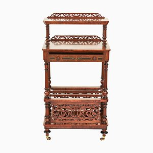 19th Century Victorian Burr Walnut Shelf