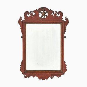 Specchio da parete antico in mogano