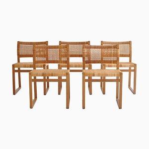 Modell BM61 Esszimmerstühle von Børge Mogensen für P. Lauritsen & Søn, 1950er, 5er Set