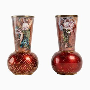 Art Nouveau Vases, Set of 2