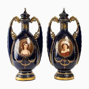 Porcelain Vases, Set of 2