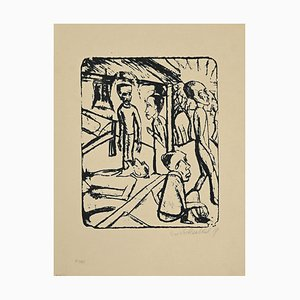 Erich Heckel, The Brothers Karamazov, Lithograph, 1919