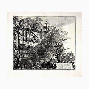 Giovanni Battista Piranesi, Sepulcher Regio, Or Consular, Etched Into the Cliff, 1764