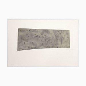Ben Nicholson, Lange Horizontale Patmos, Radierung, 1967