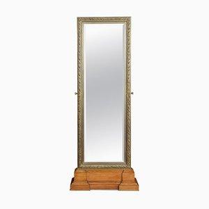 Specchio Cheval grande con cornice in bronzo lavorato a mano