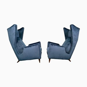 Italian Armchairs by Mario Oreglia, Set of 2