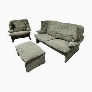 Conjunto de sofá Porto Venere de Vico Magistretti para Cassina, años 80