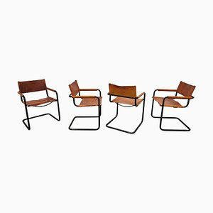 Model MG5 Armchairs by Mart Stam for Fasem, 1980s, Set of 4
