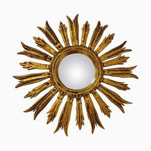 Mid-Century Golden Sunburst Mirror