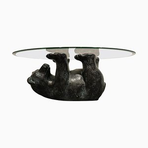 Sculptural Black Bear Coffee Table, 1970s