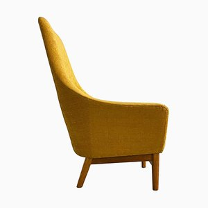 Mid-Century Mustard Colored Lounge Chair from S.M. Wincrantz