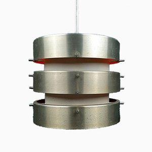 Vintage Metal Pendant Lamp from VEB, 1960s