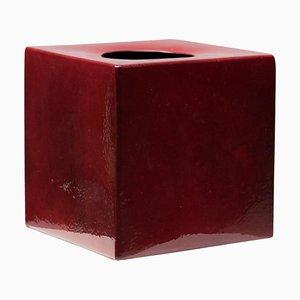 Vaso modello 585 rosso di Ettore Sottsass, anni '60