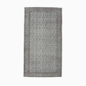 Handgeknüpfter türkischer Vintage Oushak Teppich aus Wolle, 5x8