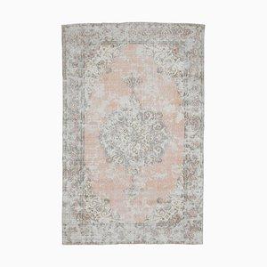 6x10 Antique Middle East Medallion Oriental Oushak Carpet