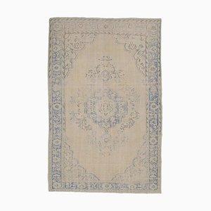 6x10 Antiker Türkischer Oushak Boho Teppich aus Wolle