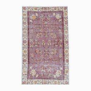 Türkischer Vintage Oushak Teppich aus Wolle mit 4er Oberfläche