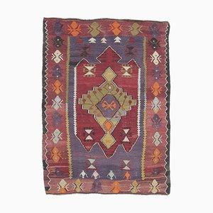3x5 Vintage Turkish Oushak Handmade Wool Cacim Kilim Area Rug