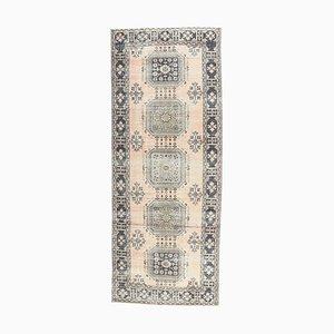 Handgemachter türkischer Vintage 5x12 Ouschak Woll Teppich