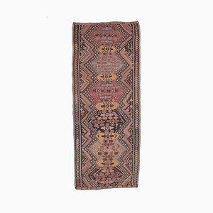 Handgewebter türkischer türkiser Vintage 5x12 Oushak Kelim Wollteppich