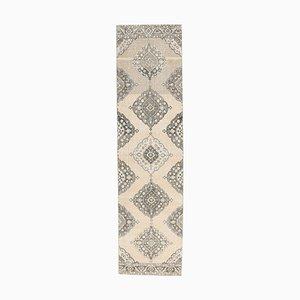 3x13 Antique Turkish Oushak Handmade Neutral Wool Runner Rug