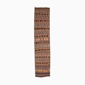 3x13 Vintage Turkish Oushak Handmade Wool Kilim Runner Rug