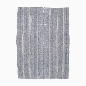 7x9 Vintage Turkish Oushak Handmade Gray Wool Kilim Area Rug