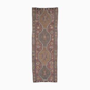 5x14 Vintage Turkish Oushak Handmade Wool Kilim Runner Rug