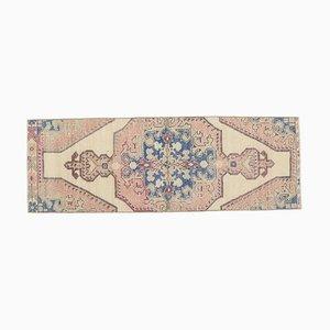 Handgeknüpfter türkischer Vintage Oushak 2x7 Teppich in Pulverform