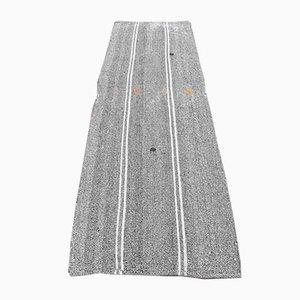 2x8 Türkischer Vintage Kilim Ouschak Handgewebter Flachgewebe Teppich aus Wolle