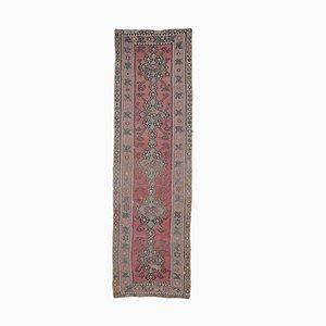 4x13 Vintage Turkish Kilim Oushak Handmade Wool Flatweave Rug