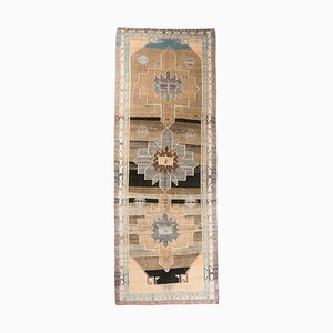 Tappeto Oushak 6x16 vintage a mano in lana, Turchia