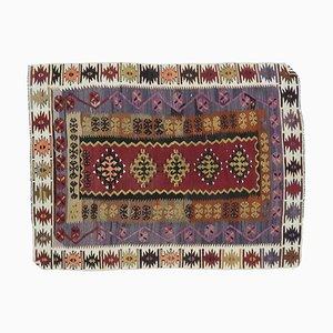 4x5 Vintage Turkish Oushak Handmade Wool Kilim Area Rug
