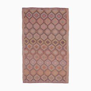 Handgemachter türkischer Vintage 5x8 Kelim Teppich von Oushak