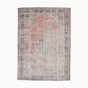 8x11 Antiker Türkischer Handgewebter Oushak Teppich