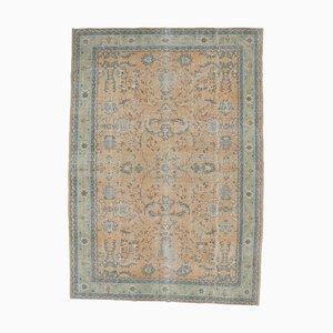 9x12 Vintage Turkish Oushak Handmade Wool Floral Carpet